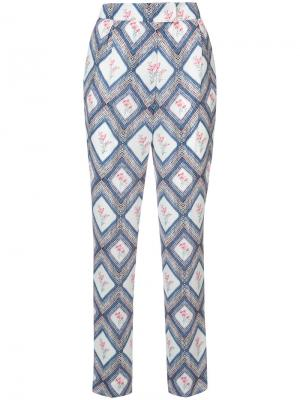 Классические брюки Clive Emilia Wickstead. Цвет: синий