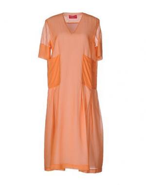 Платье длиной 3/4 CARLO CONTRADA. Цвет: лососево-розовый