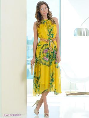 Платье EZANNA. Цвет: желтый, зеленый