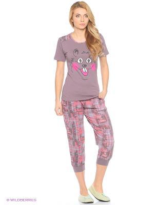 Женская пижама NICOLETTA. Цвет: темно-фиолетовый