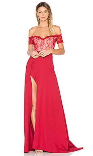 Вечернее платье montana Elle Zeitoune. Цвет: красный