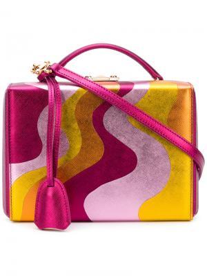 Маленькая сумка Grace Mark Cross. Цвет: розовый и фиолетовый