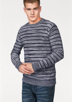 Пуловер JOHN DEVIN. Цвет: красный/белый в полоску, темно-синий/белый в полоску