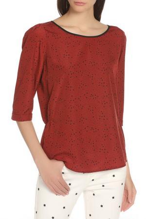 Блузка Scotch&Soda. Цвет: dark red, темно-красный