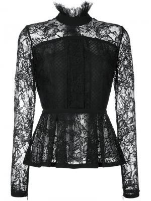 Кружевная блузка Elie Saab. Цвет: чёрный