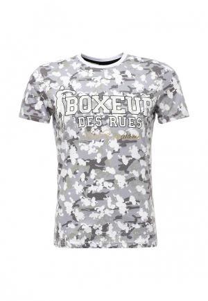 Футболка Boxeur Des Rues. Цвет: серый