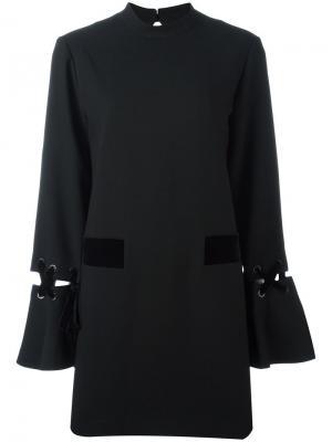 Платье-рубашка длины мини Steve J & Yoni P. Цвет: чёрный