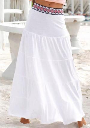 Пляжная юбка Otto. Цвет: белый