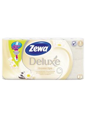 Туалетная бумага Zewa Deluxe АромаСпа, 3 слоя, 8 рулонов. Цвет: желтый