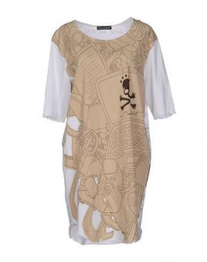 Короткое платье BAD SPIRIT. Цвет: бежевый