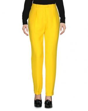 Повседневные брюки CARVEN. Цвет: желтый