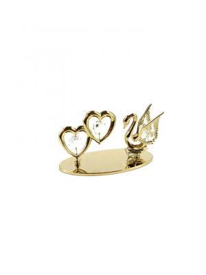 Фигурка декоративная Лебедь CRYSTOCRAFT. Цвет: золотистый