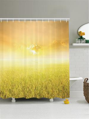 Штора для ванной Magic Lady. Цвет: светло-коричневый, светло-оранжевый