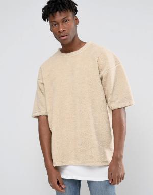 Other UK Oversize-футболка с отделкой борг. Цвет: белый