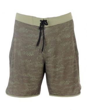 Пляжные брюки и шорты HURLEY. Цвет: зеленый-милитари