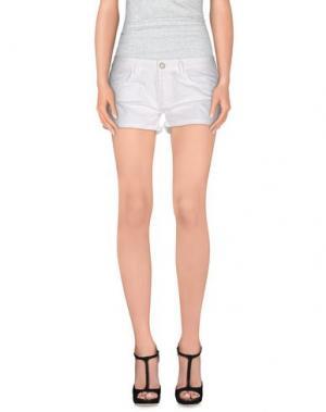 Повседневные шорты CLARK JEANS. Цвет: белый