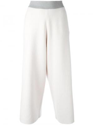 Укороченные брюки прямого кроя Fabiana Filippi. Цвет: телесный
