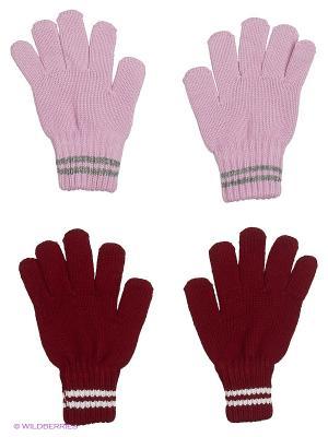 Перчатки FOMAS. Цвет: бордовый, сиреневый