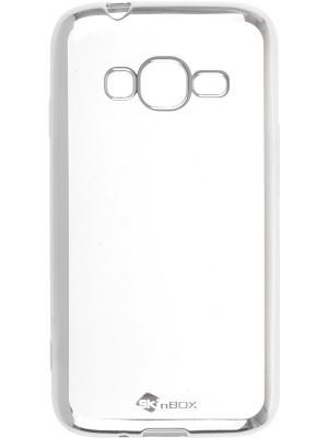 Накладка для Samsung Galaxy J1 mini Prime J106 skinBOX. Цвет: серебристый