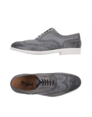 Обувь на шнурках BORGIOLI. Цвет: свинцово-серый