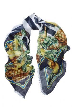 Шелковый платок Dolce&Gabbana. Цвет: сине-желтый