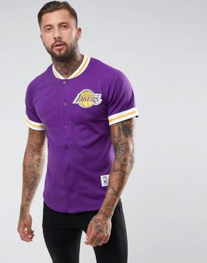 Mitchell & Ness Сетчатая футболка NBA L.A Lakers. Цвет: фиолетовый