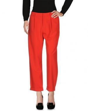 Повседневные брюки PEPEROSA. Цвет: красный