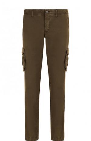 Хлопковые брюки-карго Bogner. Цвет: хаки
