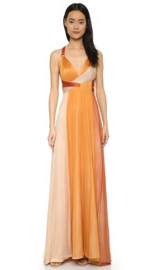 Вечернее платье Erin из шелкового тюля Catherine Deane. Цвет: отруби/телесный/ржавчина