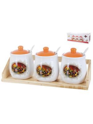 Набор банок для сыпучих продуктов Севилья, Polystar. Цвет: бежевый