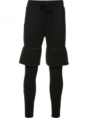 Многослойные спортивные брюки Publish. Цвет: чёрный
