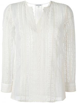 Кружевная блузка Elizabeth And James. Цвет: белый
