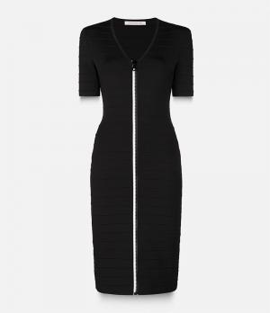 Облегающее платье с V-образным вырезом Christopher Kane. Цвет: чёрный