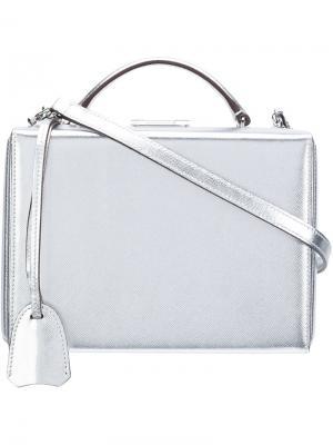 Сумка Grace Small Metallic Box Bag Mark Cross. Цвет: металлический