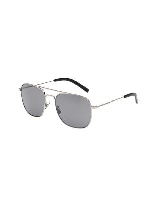 Солнцезащитные очки Saint Laurent. Цвет: серебристый