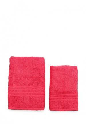 Комплект полотенец 2 шт. Arloni. Цвет: розовый