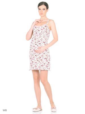 Сорочка для беременных и кормления (2 в 1) Nuova Vita. Цвет: лиловый, малиновый, светло-коралловый, светло-бежевый, темно-бежевый, бежевый, молочный, красный, фуксия, коралловый
