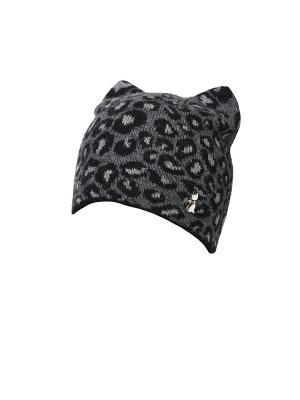 Шапка Paola Belleza. Цвет: черный, серый