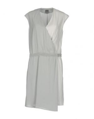 Короткое платье LORENA ANTONIAZZI. Цвет: серый