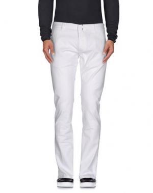 Джинсовые брюки MESSAGERIE. Цвет: белый