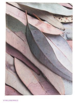 Обложка для паспорта Fall leaves Kawaii Factory. Цвет: серый, розовый