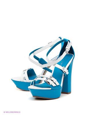 Босоножки Calipso. Цвет: голубой, белый