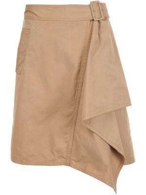 Драпированная  юбка 3.1 Phillip Lim. Цвет: телесный