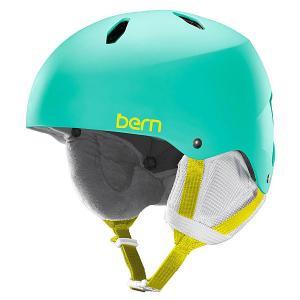 Шлем для сноуборда детский  Snow EPS Diabla Satin Aqua Green/White Liner Bern. Цвет: голубой