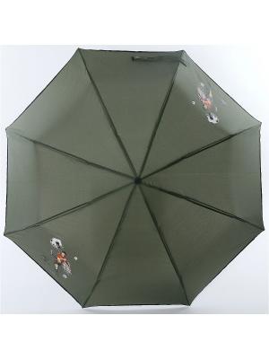 Зонт ArtRain. Цвет: хаки, темно-зеленый