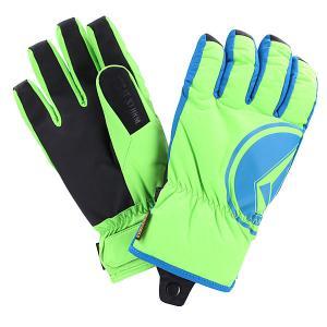 Перчатки сноубордические  Bankshot Lime Volcom. Цвет: синий,зеленый