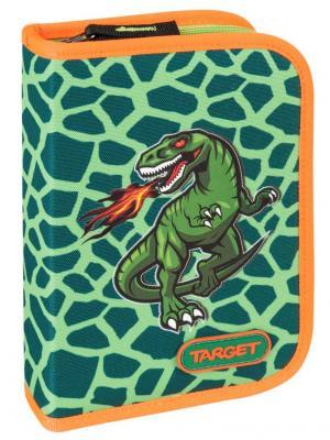 Пенал с канцтоварами Динозавр Target. Цвет: черный