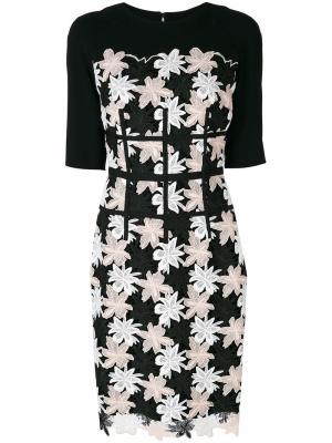 Платье Nore Talbot Runhof. Цвет: чёрный