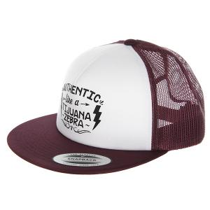 Бейсболка с сеткой  Cajon Trucker Hat Burgundy Nixon. Цвет: фиолетовый,белый