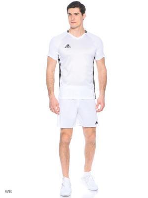 Футболка спортивная Adidas. Цвет: белый, черный